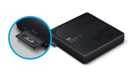 Buy the WD My Passport Wireless Pro 3TB USB 3 0 External HDD , Black Colour  ( WDBSMT0030BBK-PESN ) online